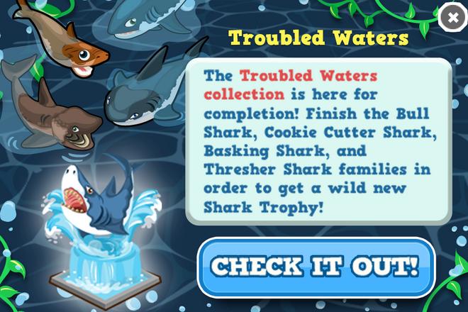 Shark week coin collection modal