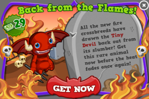 Tiny devil modal
