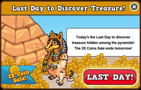 Egypt last day coins modal