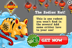 Zodiac rat modal