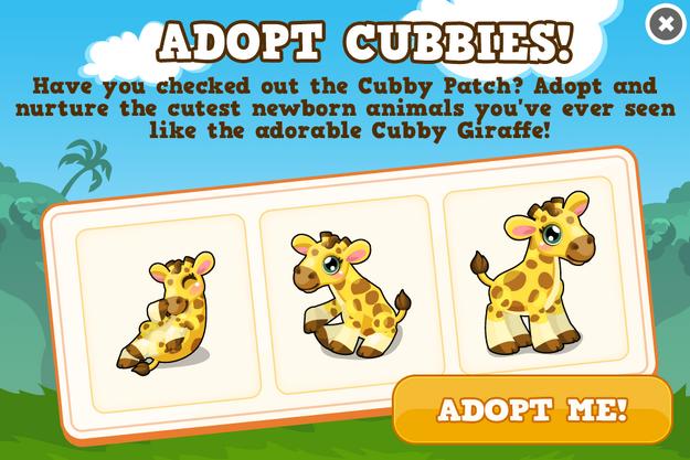 Cubby giraffe modal