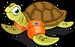 Floaty sea turtle single