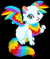 Rainbow angel kitty single