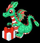 Mistletoe dragon single