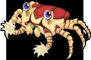 Pompom crab single