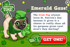 Irish pug modal