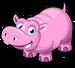 Pink hippo single