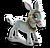 Goal cart donkey icon