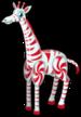 Candy peppermint giraffe single
