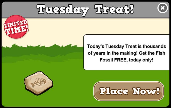 Extinct tuesday treat modal