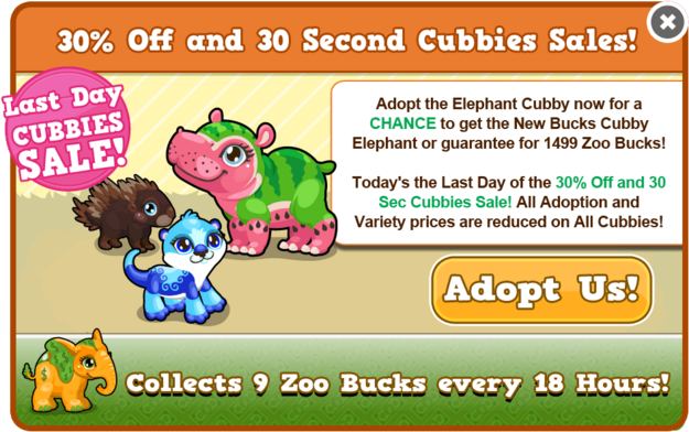 Birthday 2 cubby sale last modal