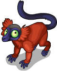 Red ruffed lemur static