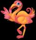 Retro flamingo single