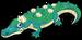 Swamp lily gator single