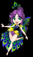 Peacock fairy single