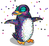 Pointilism penguin an
