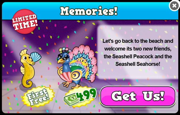 Seashell peacock modal