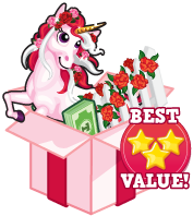 Booster pack rose unicorn