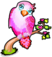 Pink lovebird single
