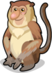 Proboscis Monkey single