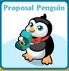 Proposal penguin card