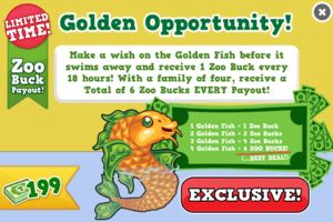 Golden fish modal