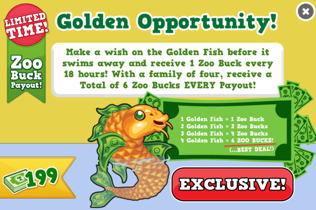 Golden fish modal
