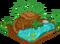 Otter cubby habitat