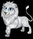 Silver lion static