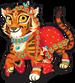 Indian bengal tiger single