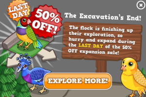 Birds expansion sale last modal