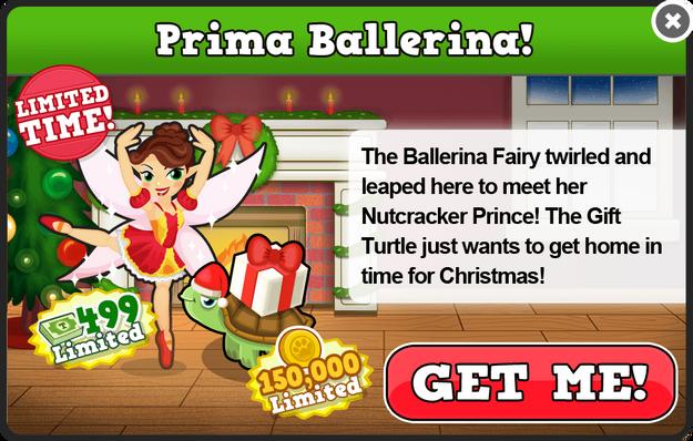 Ballerina fairy modal