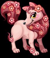 Peach blossom fox single