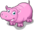 Pink hippo static