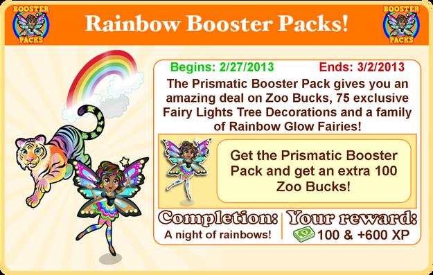 Rainbow glow fairy goal modal