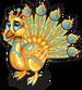 Gilded peacock single