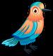 Indian roller bird single