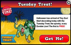 Zombie lion modal
