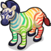 Rainbow Zebra single