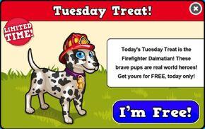 Firefighter dalmation modal