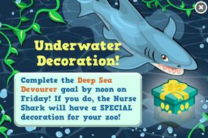 Shark week goal modal
