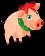 Christmas village pig an