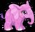 Cubby elephant pink single