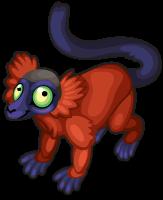 Red ruffed lemur single
