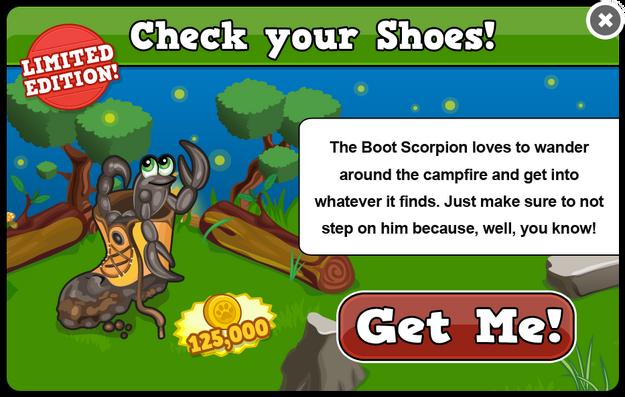 Boot scorpion modal