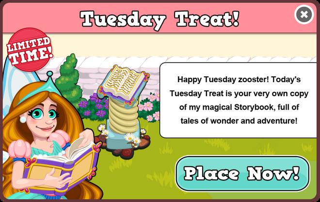 Fairytale tuesday treat modal