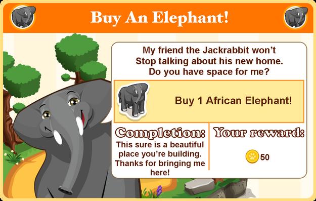 African elephant goal modal