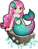 Seashell mermaid single