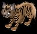 Striped hyena single
