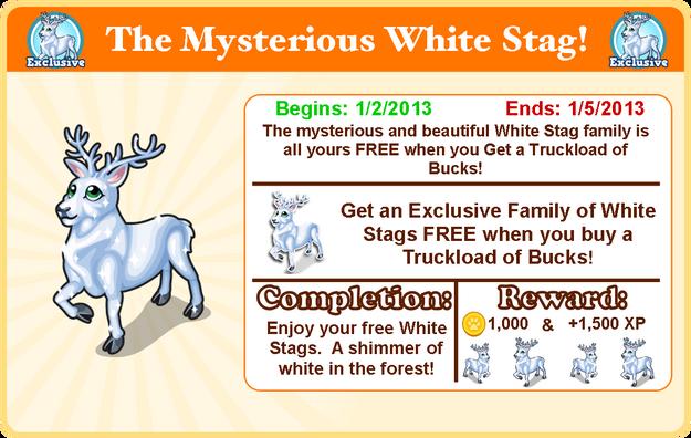 White stag goal modal